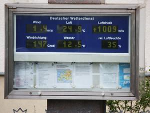Deutscher Wetterdienst in der Seestraße in Warnemünde