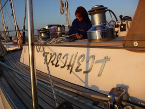 Träumen unter Segeln auf der Ostsee