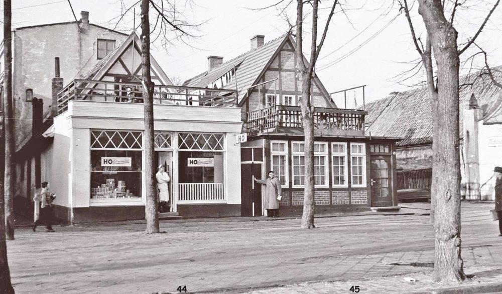 HO Lebensmittel, Am Strom 44-45, Warnemünde 1956