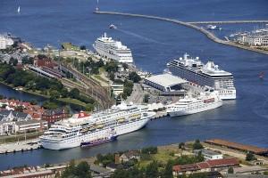 Kreuzfahrthafen Warnemünde. Foto: Hafen-Entwicklungsgesellschaft Rostock