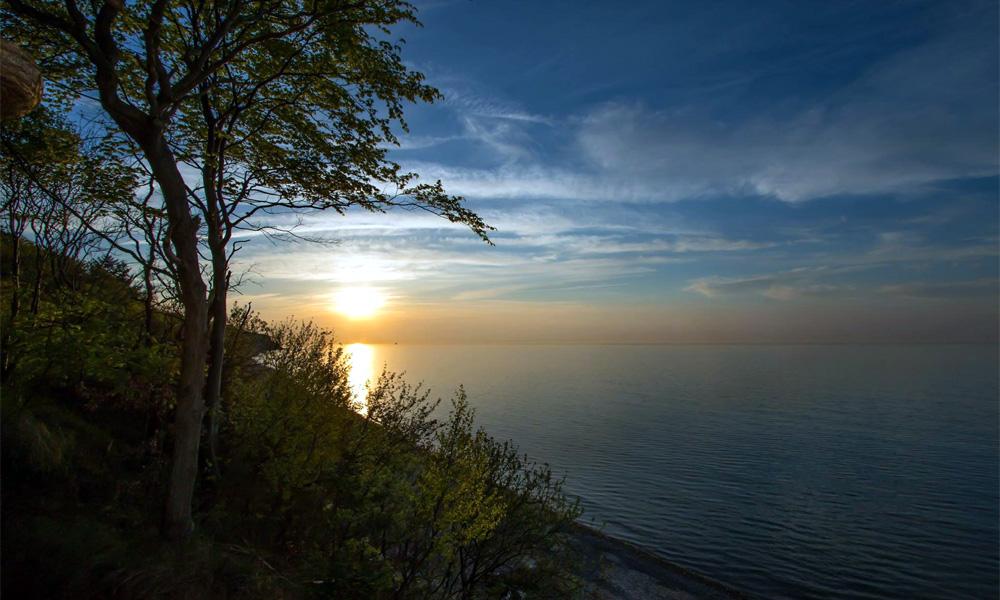 Steilküste Stoltera an der Ostsee westlich von Warnemünde. Foto: Jens Schröder