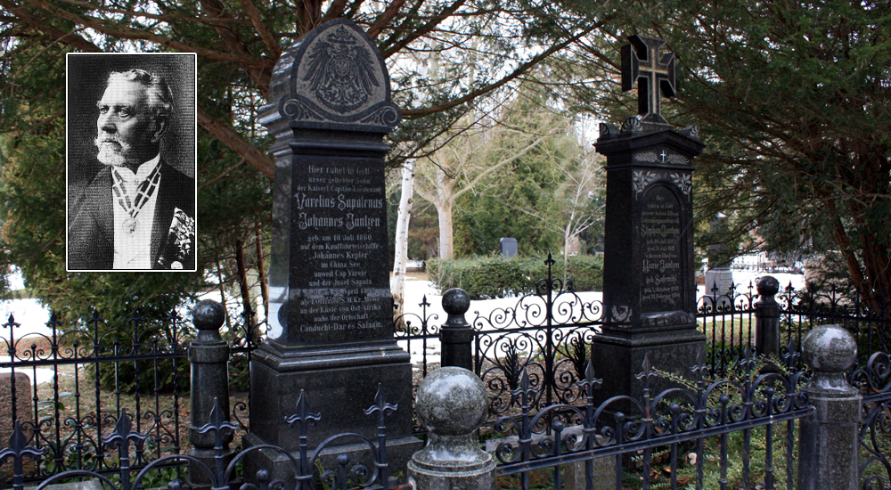 Grabstätte des Warnemünder Lotsenkapitän Stephan Jantzen