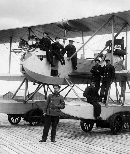 Flugplatz Warnemünde in Höhe Düne, 1917/1918. Foto: Heimatmuseum Warnemünde