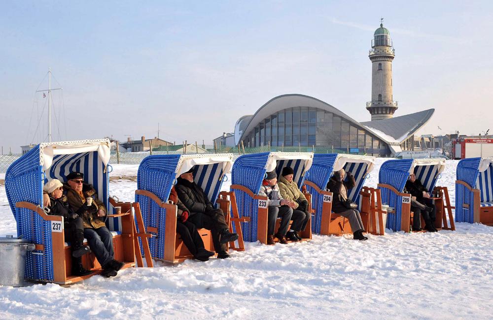 Warnemünder Wintervergnügen. Foto: Joachim Kloock